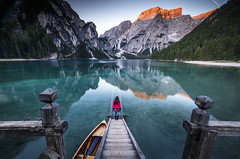 Lago di Braies (Frederic Huber | Photography) Tags: 1124 1635 2470 70200 landschaft altoadige canoneos5dsr dolomiten dolomites dreizinnen eos fotodiox frederichuber freearc italia italien italy lagodibraies landscape leefilters photography pragserwildsee seceda seiseralm southtyrol sunrise sunset sã¼dtirol wonderpana wwwfrederichubercom