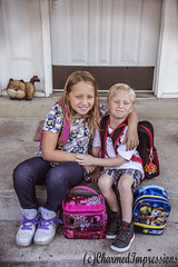 First Day of School (livininfrostytown) Tags: family love children mine boy girl sister brother siblinglove charmedimpressions wwwfacebookcomcharmedimpressions august 2017 vacation firstdayofschool fourthgrader kindergartener schoolkids backpack lunchbags smiles happy missingmylittles littles number4 number5