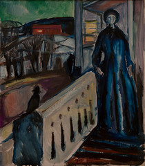 Edvard Munch, On the Veranda Stairs, 1922-24 (Sharon Mollerus) Tags: edvardmunchbetweentheclockandthebedexhibit sfmoma sanfranciscomuseumofmodernart sanfrancisco california unitedstates us cfptig17