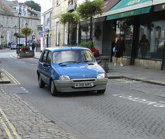 Rover Metro L (occama) Tags: k318nrl rover metro l old car cornwall uk 1992 blue british bangernomics