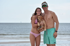 Ft. Morgan, AL. (Hollingsworth18) Tags: models model dog puppy sand water ocean gulf coast costa patagonia beautiful