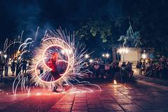 Street show Paris (Carlos Pinho Photography) Tags: paris street streetphotography show light night firework fire silhouette people