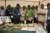 Alumni members visit cassava breeding unit (IITA Image Library) Tags: alumni reunion cassava manihotesculenta iita