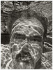 Me 2017 #59; Submerged (hamsiksa) Tags: man oldman age senior geezer wet underwater submerged pool swimmingpool portrait underwaterportrait selfportrait blackwhite relections bubbles aging oldmenarebeautiful swimmers