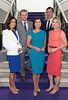 Sarah O Connor, Gavan Reilly, Colette Fitzpatrick, Paul Colgan and Claire Brock of TV3 News pictured as TV3 unveiled its programming plans for Autumn 2017 at The National Concert Hall, Dublin. Pictures: Brian McEvoy
