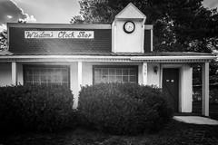 Wisdom's Clock Shop (CJPiazza1) Tags: westfork arkansas leicamonochrome 21mmsem
