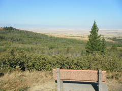 Cypress Hills SW Sask Canada Autumn (Mr. Happy Face - Peace :)) Tags: bench benchmonday happybenchmonday chair seat art2017 canada sask cypresshills scenery canada150