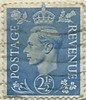 UK 2½d Postage Stamp - George VI (Ray's Photo Collection) Tags: 1944 uk postage scan postagestamp georgevi stamp timbre briefmarke royalmail