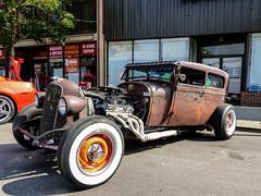Rat Rod (J Wells S) Tags: ratrod hotrod streetrod lowrider rust rusty crusty ridesonmonmouth monmouthstreet newport kentucky whitewalltires 2doorsedan choppedtop car