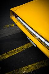 DSCF0907 (Brice L) Tags: car auto floor bitume road details part park colors americancar america oldsmobile