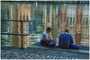 Bristol , along the Avon river ... (miriam ulivi) Tags: miriamulivi panasonicdmctz60 england uk bristol avonriver fiumeavon coppia riflessi couple reflections girl boy ragazzo ragazza crepuscolo dusk acqua water gabbiani seagulls streetphotography stphotographia
