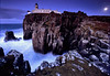 Neist Point - Isle of Skye - Scotland (Frédéric Lefebvre - Landscape photography) Tags: skye iledeskye ecosse scotland lighthouse bluehour moon full paysage landscape purple rock cliff neist point longexposure seascape heurebleue phare lune isleofskye neistpoint