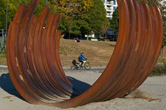 Sept. 27, 2012 (slidefarmer2015) Tags: bicycling biennale biking cyclist exported graphic publicart sabi sculpture vancouver vancouverbc vrrl2 website