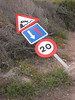 cala mesquida tipping sign (the incredible how (intermitten.t)) Tags: menorca espaã±a balearicislands baleares illesbalears minorca sign accident danger 20160925 8206 españa