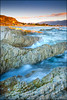 Limestone Daybreak (katepedley) Tags: kaikoura waves sunrise dawn daybreak coast limestone geology rock layers canon 5d 1740mm tripod gndfilter fieldtrip rps southisland south island new zealand newzealand sedimentary fold uplift tertiary