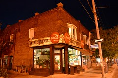 Willem & Jools Flower Shop / Galley Food Market .... 125 Roncesvalles Avenue .... Toronto (Little Poland) Ontario (Greg's Southern Ontario (catching Up Slowly)) Tags: nikon nikond3200 nightphotography cocacolabuttonsign 125roncesvallesavenue toronto torontoist