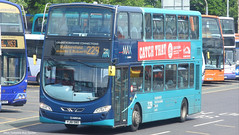 Arriva Yorkshire YJ61 OBO 1539 (WY Bus Spotter) Tags: arriva yorkshire yj61obo 1539 west bus spotter wybs 229 wrightbus wright pulsar gemini 2 ii huddersfield leeds max heckmondwike 2dl chassis