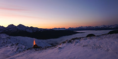 Speikboden 2400m (Körnchen59) Tags: speikboden dolomiten südtirol italien sonnenaufgang sunrise schnee feuer körnchen59 elke körner berge mountains sony