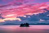 sunset 4612 (junjiaoyama) Tags: japan sunset sky light cloud weather landscape pink purple contrast colour bright lake island water nature fall autumn