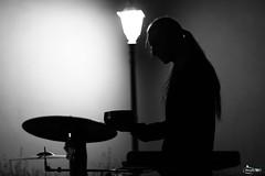 Between shadows and light (Francesco Carradori) Tags: light lights dark shadow shadows ombre luci contrasto contrast monochrome monocromo bianco nero punto luce musicista musica silhouette
