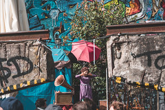 Robodonien 2017 (room76com) Tags: robot robots new nikon nikkor festival arts art kunst odonien koeln cologne steampunk blue white colorful color robodonien weird celebration digital analog mechanical technology machines city urban burning man september