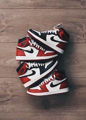 Nike reds (collaredinboots1) Tags: nike sneakers hightops skateshoes