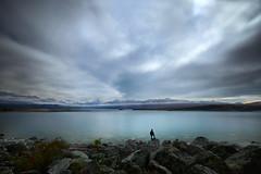 Contemplation (lfeng1014) Tags: contemplation lakepukaki southisland newzealand nz cloud mountain lake rocks landscape longexposure 46seconds canon5dmarkiii ef1635mmf28liiusm travel lifeng