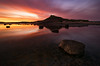 Long Reef at Sunset (Orange Orb Photography) Tags: reflection water longreef seascape sunset longexposure headland clouds collaroy newsouthwales australia au