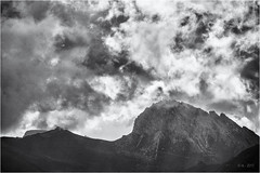 The boiling Sky... (Ody on the mount) Tags: anlässe berge dolomiten em5ii fototour gipfel himmel mzuiko40150 omd olympus urlaub wolken bw clouds monochrome mountains sw sky
