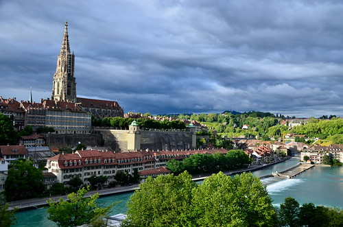 River Aare and Bern Cathedral