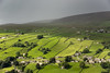 Storm cloud over Low Row, Swaledale (Keartona) Tags: lowrow swaledale northyorkshire yorkshiredales yorkshire england hills weather storm clouds dramatic rain sunlight contrast green hill scenery september fields pattern patchwork landscape countryside