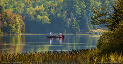 Fishing on Harlow Pond, Maine (Greg from Maine) Tags: maine recreation fishing harlowpond sangervillemaine piscataquiscounty reflection landscape nature autumn earlyautumn