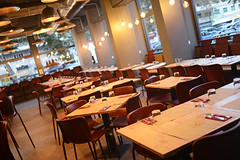 DSC_2438 (fdpdesign) Tags: pizzamaria pizzeria genova viacecchi foce italia italy design nikon d800 d200 furniture shopdesign industrial lampade arredo arredamento legno ferro abete tavoli sedie locali