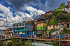 Hillside Dwelling Medellin Columbia (Mike B's Photography) Tags: urban city favela medellin columbia color building multicolored architecture hdr