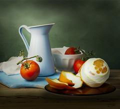 Tomatoes and orange (jaci XIII) Tags: tomate laranja fruta naturezamorta orange fruit tomato stilllife