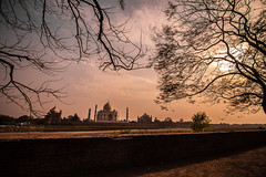 The Taj (Harshal Orawala) Tags: tajmahal sunset back india lights 121clicks travel