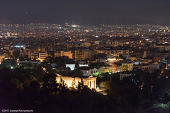 Propylaea of Acropolis of Athens (George Pachantouris) Tags: athens greece acropolis propylaea ancient night full moon ακρόπολη αθήνα ελλαδα παρθενώνασ parthenon