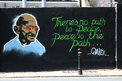 Urban Street Art Project 10 (Terry Moran aka Tezzer57) Tags: street art streetart colour urban urbanstreetartproject wexford ireland southeastireland gandhi