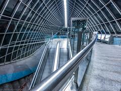 Leading Lines (katrin glaesmann) Tags: münchen munich tube station ubahn metro mvg stquirinplatz workshop u1 1997 paulkramerundmanfredrossiwaljespersen ulrichelsner hermannöttlmünchen