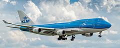 PH-BFT  Boeing 747-406(M) - KLM Royal Dutch Airlines (Peter Beljaards) Tags: phbft boeing747 boeing747400 klm cityoftokyo tokyo b747 aircraft airliner passengerjet ams eham nikond5500