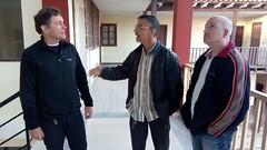 Con Joseba Segura en la parroquia de Chambo