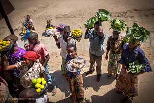 Locals selling their produce by thge road, Bunda, Tanzania, June 2017