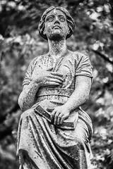 He Lost Some Friends That Fall (Thomas Hawk) Tags: missouri newmountsinaicemetery newmtsinaicemetery stlouis usa unitedstates unitedstatesofamerica bw cemetery sculpture fav10