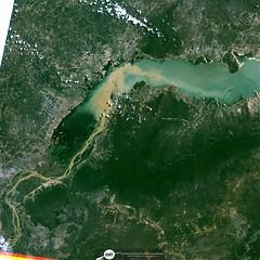 Parte do Reservatório de Sobradinho (barragem / dam), no Rio São Francisco, Remanso/BA (outra imagem 9) (Coordenação-Geral de Observação da Terra/INPE ) Tags: sobradinho riosãofrancisco remanso bahia brasil brazil cbers4 mux inpe