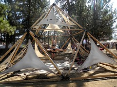 lyra (aerial hoop) (citymaus) Tags: lyra aerial hoop hooping hoops girl women woman oregon eclipse gathering 2017 symbiosis ochoco national forest big summit prairie art music festival arts triangle pyramid structure