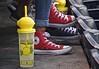 An Real Life Study of Chucks and Fresh Squeezed Lemonade (ricko) Tags: chucks shoes converseallstars lemonade freshsqueezed container drink ballpark kauffmanstadium kcroyals kansascity
