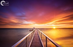 RISING SUN (Vaughan Laws Photography   www.lawsphotography.com) Tags: longexposure sunrise pier jetty seascape landscape ocean colorful nd10stop