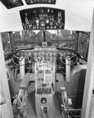 convair negative (San Diego Air & Space Museum Archives) Tags: aviation aircraft airplane airliners airlines propliner convair convaircv240 convair240 cv240 aircraftmanufacturing cockpit