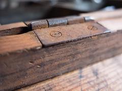 Hinge of an old vintage box (piabeeh) Tags: hinge macromondays rust hmm rostig vintage macromonday old box