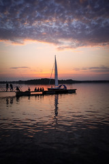 Masurian Sunset (MartinFechtner-Photography) Tags: masuria ermland masuren polen poland sunset sonnenuntergang see lake boat fujifilm x70 wclx70 wideangle converter landschaft landscape kretowiny sommer summer
